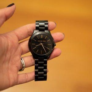 Black Metal Watch